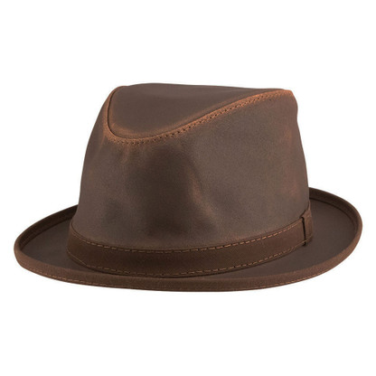 Soho Leather Hat | Chocolate