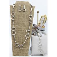 Snaffle Bit Necklace Set | Bracelet | Earrings