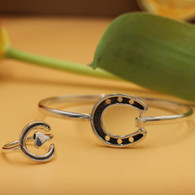 Horseshoe Ring with Matching Bangle