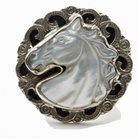 White Horse Head Ring