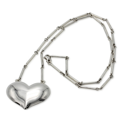"""Heart Necklace on 30"""" Chain"""