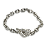Heart with Arrow Toggle Chain Bracelet