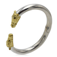 18k Horse Head Smooth Cuff