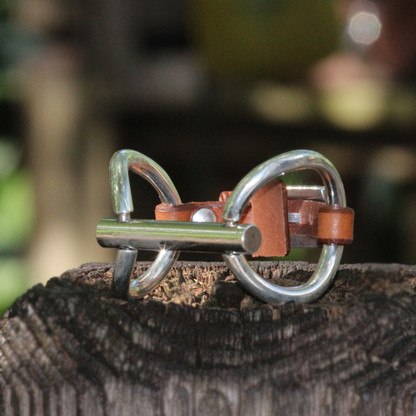 O Ring Snaffle Bit | Leather Bracelet | CXC Jewelry