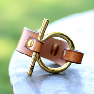 The Tori | Gold Full Cheek Snaffle Bracelet | CXC Jewelry