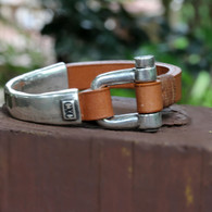 Para Gusto Leather | Silver Bracelet | CXC Jewelry