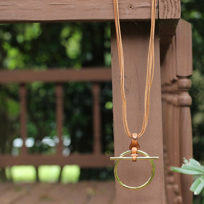 Free Ring Necklace | Gold | Leather | CXC Jewelry