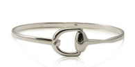 Sterling Silver Equestrian Bit Bangle Bracelet