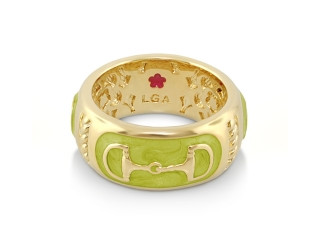 Enamel Bit Ring Olive | Caracol