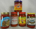 Salsamill Famous Red Chile Sauce Sampler  (Five 16 oz. Jars)