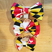 Maryland Flag Dog Bow Ties