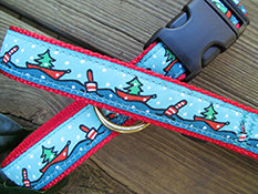 Boats and Buoys Holiday Dog Collars