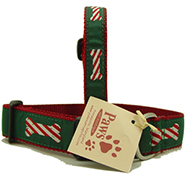 Candy Cane Bone Dog Collars | Cute Christmas Dog Collars