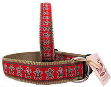 Gingerbread Dog Collars Made in USA | Big Dog Christmas Collars