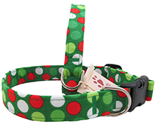 Festive Holiday Dot Dog Collars