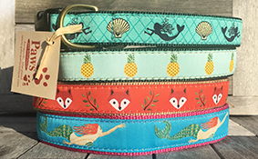 Mermaid Dog Collars, Fox Dog Collar, Pineapple Dog Collar