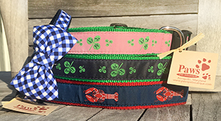 Shamrock Dog Collars, Lobster Dog Collar, Dog Bow Ties