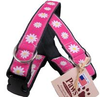 Soft Hemp Pink Daisy Dog Collars at PawsPetBoutique.com