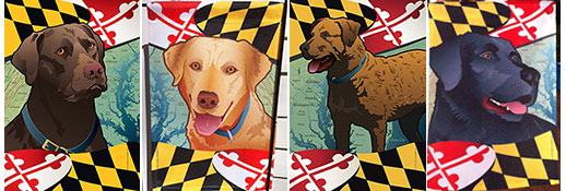 Maryland Flag Dog Garden Flags