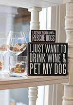 Dog Lover Wine Lover Gifts at Paws pet boutique