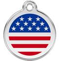 Patriotic USA Engraved Dog Tags