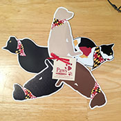 Maryland Flag Cat and Dog Magnets