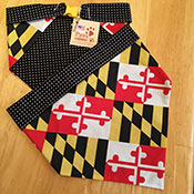 Maryland Flag Dog Bandanas