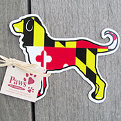 Maryland Flag Dog Magnet