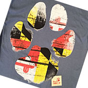 Maryland Flag Paw Shirt