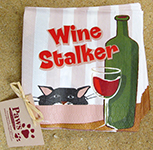 Wine Stalker Napkins | Wine and Cat Gifts