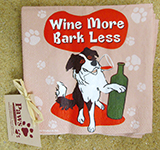 Wine More Bark Less Cocktail Napkins | Dog Party Napkins