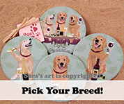 Wineing Dog Coasters | Wine Dog Coasters