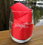 Water Dog Wine Glasses | Stemless Wine Dog Glasses