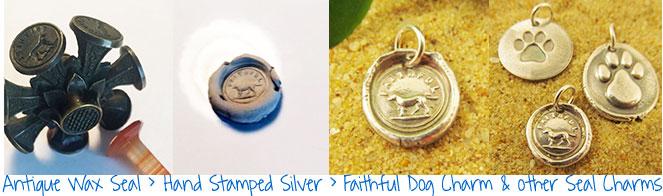 Faithful Dog Charm Jewelry