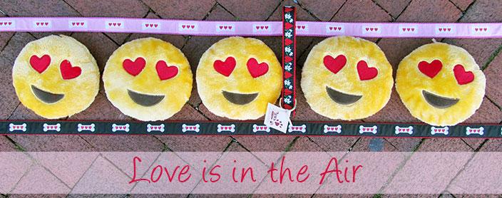 Happy Emoji Dog Toys for Valentines Day