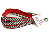 "Black & White Check 1/2"" wide Small Dog Leash"