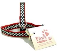 Black & White Checked Tiny Dog Collars