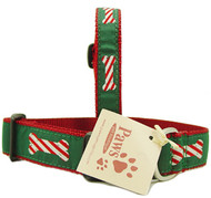 Candy Cane Holiday Dog Collars