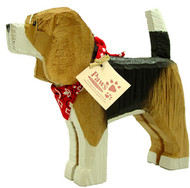 Carved Wood Beagles