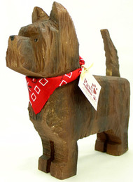 Carved Wood Cairn Terriers