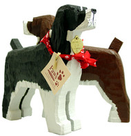 Carved Wood English Springer Spaniels