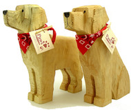Carved Wood Golden Retrievers