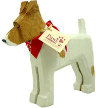 Carved Wood Jack Russells