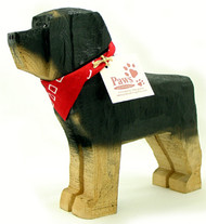 Carved Wood Rottweilers