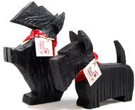 Carved Wood Scotties