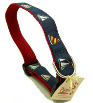 Four-Sailboat Dog Collars