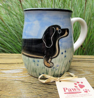 Hand-painted Black and Tan Dachshund Mug