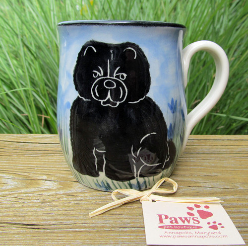 Hand-painted Black Chow Mugs made in USA