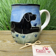 Black Lab Hand-painted Whimsical Dog Mug