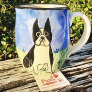 Hand-painted Boston Terrier Mug
